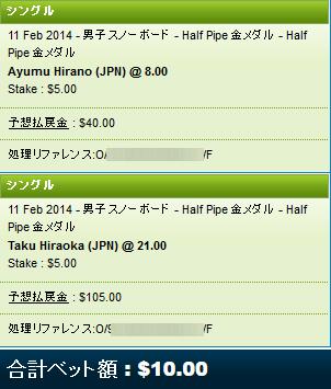 HalfPipe金メダル
