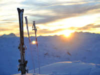mountain_snow_ski_sunset
