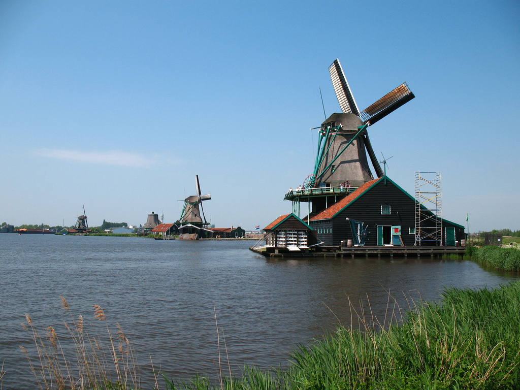 Windmills on the Zaan River, Netherlands