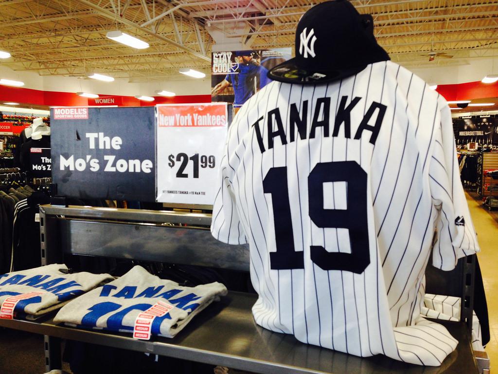 New York Yankees Masahiro Tanaka Name & Number T-Shirt