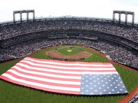 New York Mets military pregame ceremony, April 5. (overhead)