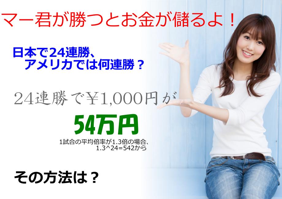 マー君が勝つとお金が儲かる。日本で24連勝アメリカでは何連勝?ブックメーカーを使って応援と金儲けの両方が可能に